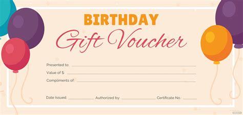 birthday gift voucher template  adobe photoshop