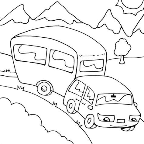 Caravan Kleurplaat by Caravan Coloring Keren Keren