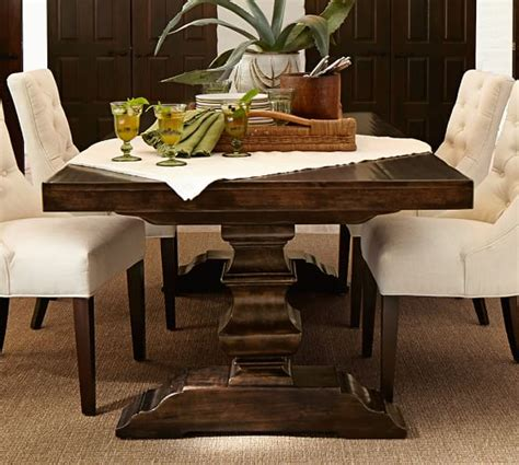 baluster coffee table square extending dining table pottery barn