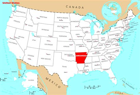 detailed location map  arkansas state arkansas state