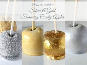 edible wedding favors how to make silver gold shimmery candy apples bakes