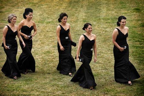 black dresses for bridesmaids classic black bridesmaid dresses cherry