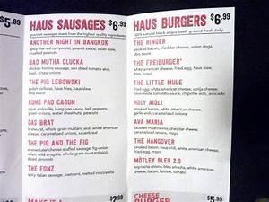 menu picture of dog haus los angeles tripadvisor With dog haus menu
