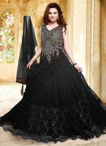 bridal collection 1 black indian royal gown maxi dress