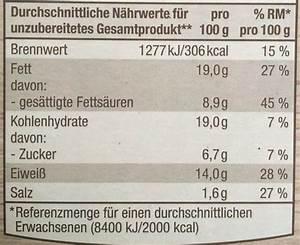 Kilokalorien Berechnen : back camembert n hrwerte ~ Themetempest.com Abrechnung