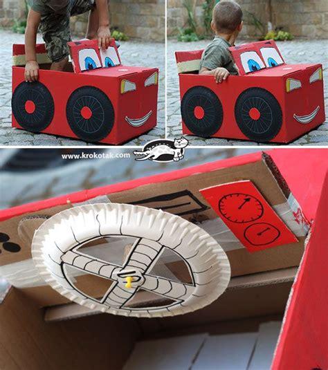 box x auto diy cardboard box car krokotak decoraci 243 n y