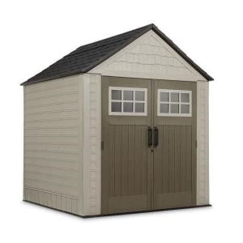 Rubbermaid Big Max Shed Shelves by Rubbermaid 7 Ft X 7 Ft Big Max Storage Shed With