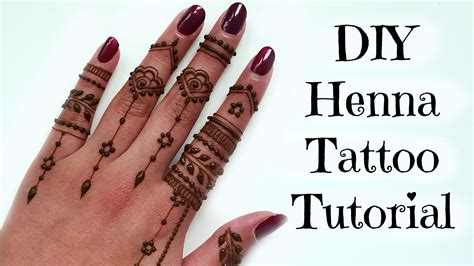 Diy Easy Henna Tattoo Tutorial  Tips And Tricks Youtube