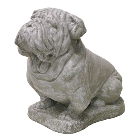lowes garden statues shop 14 in h bulldog garden statue at lowes