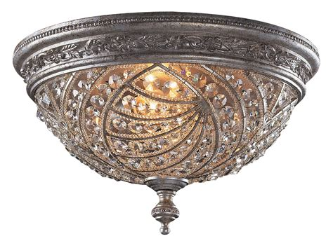 elk lighting 6232 4 renaissance flush mount
