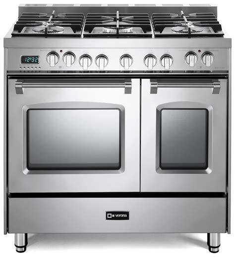 prestige dual fuel double oven range verona appliances