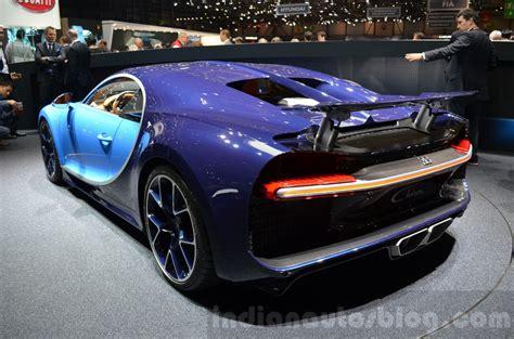 Bugatti Chiron Rear by Bugatti Chiron Rear Left Three Quarter At The 2016 Geneva