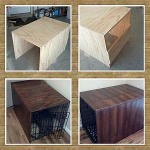 Wood dog crate diy woodworking projects plans for Diy dog kennel cover