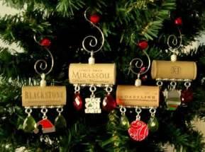 wine cork christmas ornaments homemade peace on earth