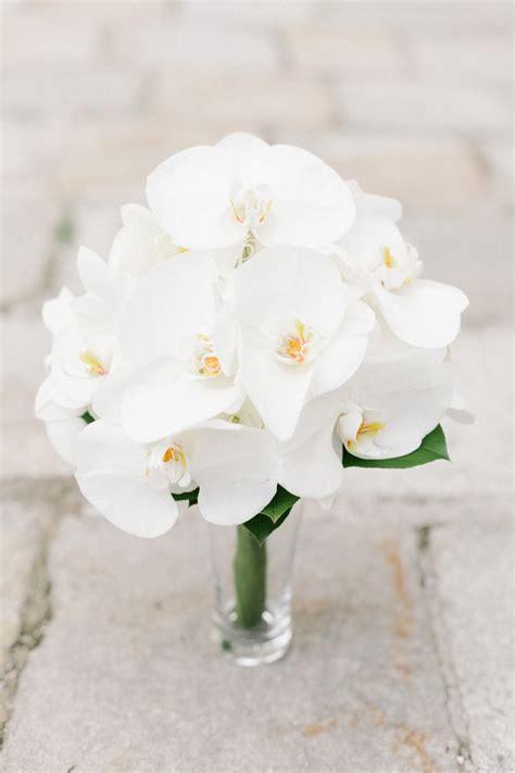 white phalaenopsis orchids bouquet bouquet wedding flower