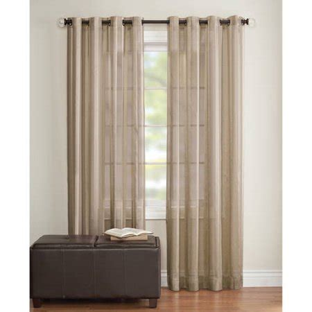 walmart sheer curtains better homes and gardens toby textured stripe sheer window