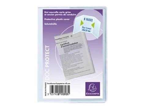 bureau carte grise exacompta pochette de protection nouvelle carte grise