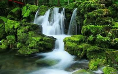 Waterfall Tropical Wallpapers Desktop Cave