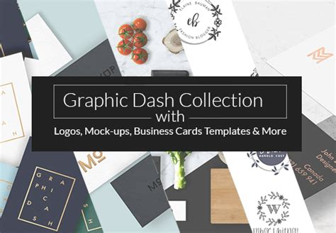 Graphic Dash Collection With Logos, Mock-ups, Business