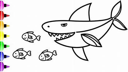 Shark Coloring Pages Drawing Cartoon Sharks Drawings