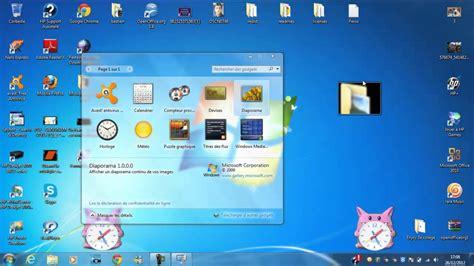 mettre un gadget sur écran de ordi bureau