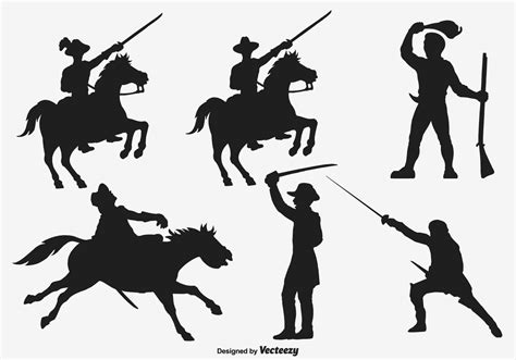 Svg is an image format used for vectors graphics. Cavalry Army Vector Silhouettes - Download Free Vectors ...