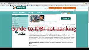 Idbi Bank Internet Banking Guide To Login To Account And