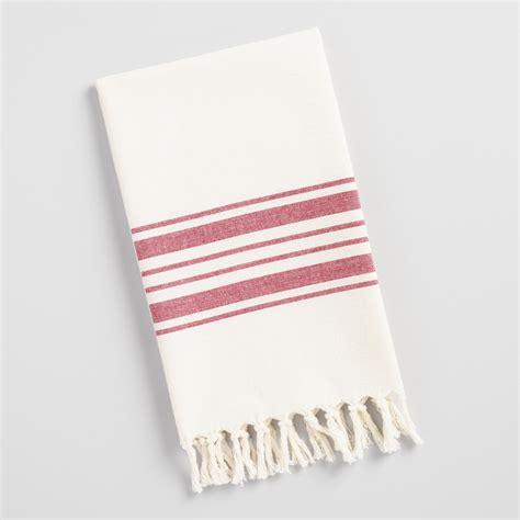 Red Villa Stripe Kitchen Tea Towel  World Market