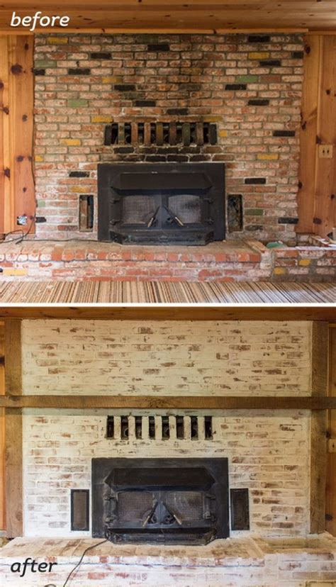 how to update a brick fireplace mortar wash brick fireplace tutorial cottage flip update