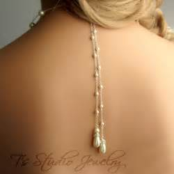 bridesmaids bracelets pearl back drop lariat bridal necklace