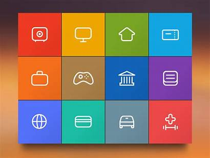 Categories Icons Menu Payments Icon Kiosk Animation