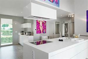 Hotte Pour Ilot Central : cuisine avec hotte ilot cuisine en image ~ Melissatoandfro.com Idées de Décoration