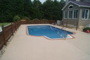 pool deck concrete home design ideas