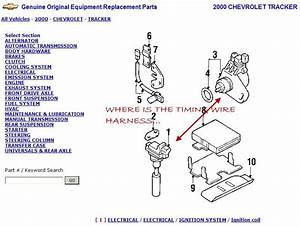 2000 Chevrolet Tracker 2 0l Timing Wire Harness