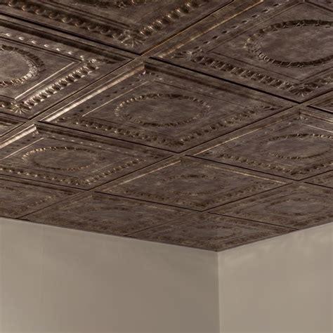 2x2 drop ceiling tiles tin fasade ceiling tile 2x2 suspended rosette in bermuda bronze