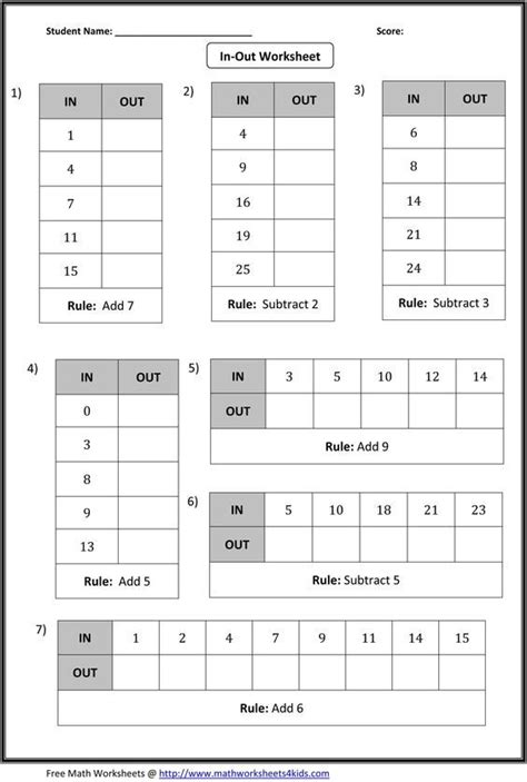 boxes worksheets include addition subtraction