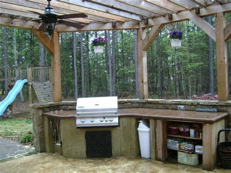 17 Best Images About Rustic Outdoor Kitchens On Pinterest