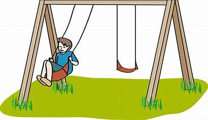 Clipart Playground Cartoon Swings Clip Ayunan Gambar