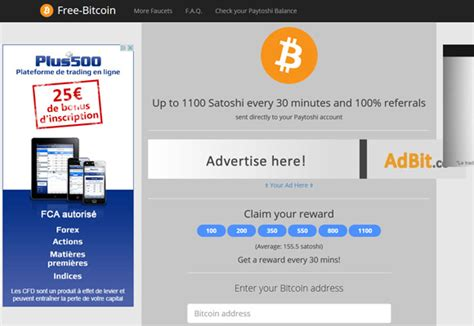 earn free bitcoins from the free bitcoin faucet