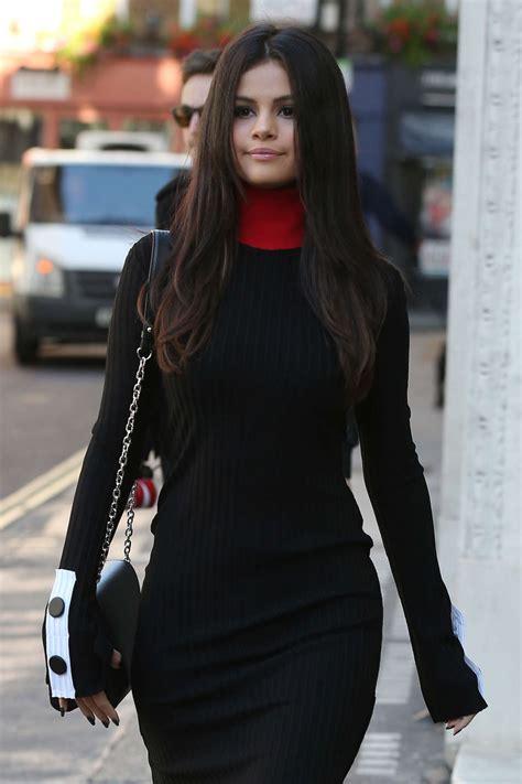 selena gomez style leaving kiss fm studios  london