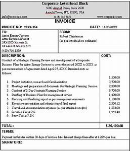 business invoice sample format for a typical business With sample business invoice