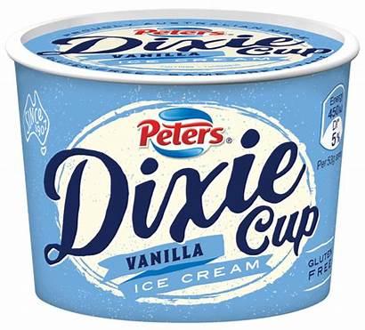 Dixie Cup Peters Ice Cream Gluten Vanilla