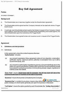 shareholder buy sell agreement buy out contract With shareholder buyout agreement template