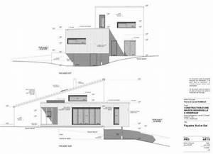 construction d39une maison en bois et monomur 4 With plan de maison facade