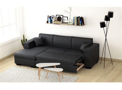 canap simili cuir gris canapé d 39 angle 4 places simili cuir tendance