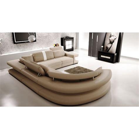 canapé en promotion canapé panoramique en cuir vancouver pop design fr