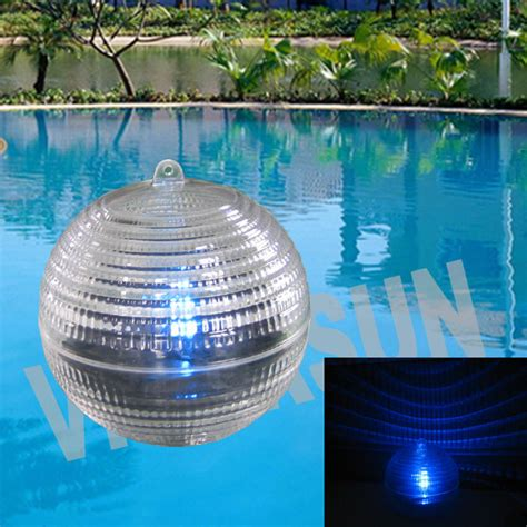 china solar swimming pool floating light solar pond l