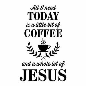 A Little Bit Of Coffee Wall Quotes™ Decal WallQuotes com