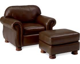Manhattan Leather Club Chair And Ottoman. Pottery Barn