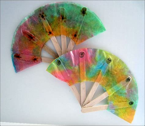 summer projects for preschoolers 414 | coffee filter fans